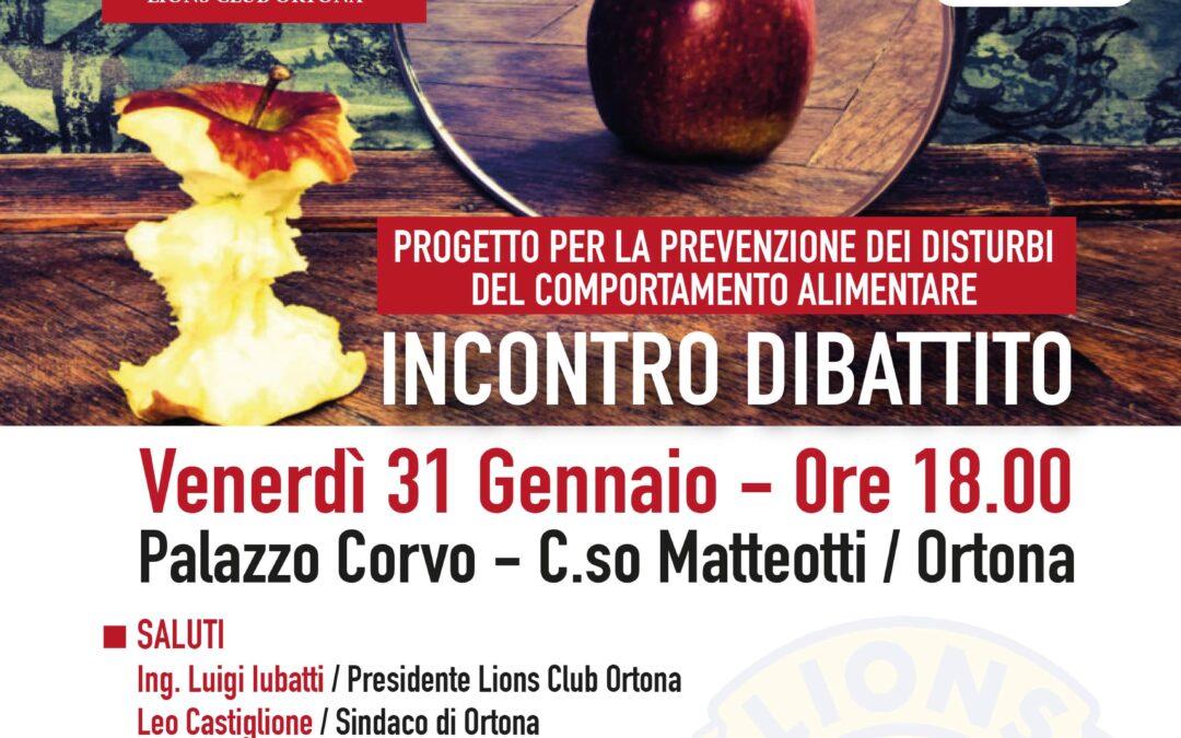 Incontro conclusivo del progetto per la prevenzione dei disturbi del comportamento alimentare.