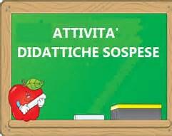 SOSPENSIONE ATTIVITA' DIDATTICHE NELLA GIORNATA DEL  09/05/2019